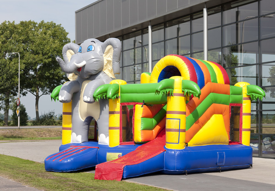Springkasteel Olifant Multiplay